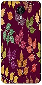 Snoogg A Seamless Pattern With Leaf Designer Protective Back Case Cover For Micromax Canvas Nitro 3 E455