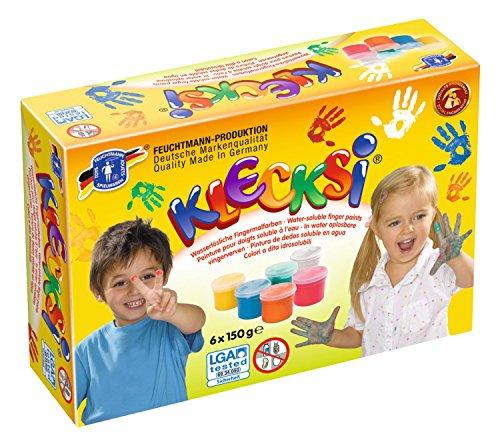 feuchtmann-juguetes-6330626-pintura-de-dedos-klecksi-basica-maxi-6-pieza