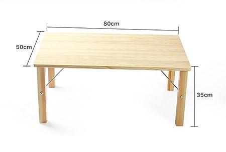 Mesas de centro Mesita de café pequeña Mesa plegable de madera maciza Mesa de ordenador Mesa plegable Mesa informal Mesa plegable de computadora de madera sólida
