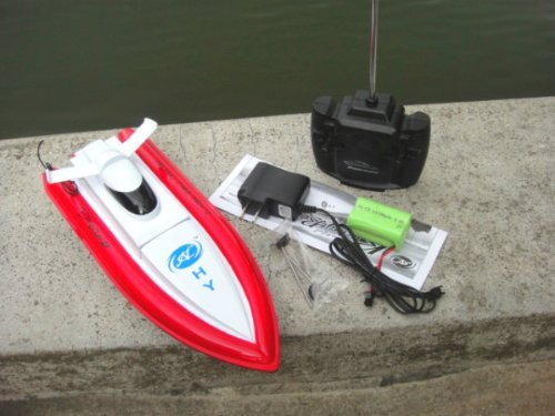 NC Brand New 12 Inches Beautiful Looking 4 Channels RC Speed Boat *Colors Vary with Mini Tool Box (fs)