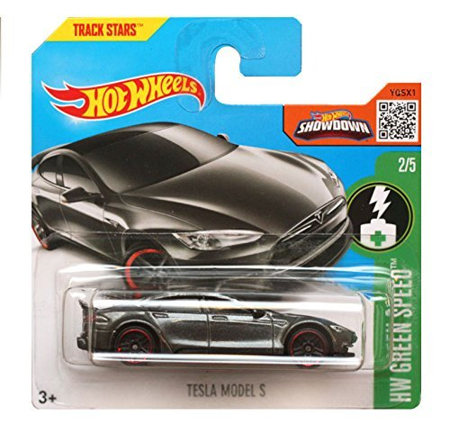 Hot Wheels 2016 HW Green Speed - Tesla Model S - (Dark Grey) Short Card by Hot Wheels (Tesla Model S Hot Wheels compare prices)