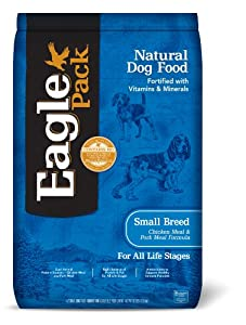Eagle Pack  Natural Small Breed Chicken and Pork Meal Adult Dry Dog Food, 30-Pound