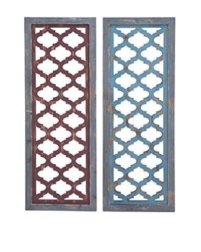 Set of 2 Wood Wall Panels, Multi