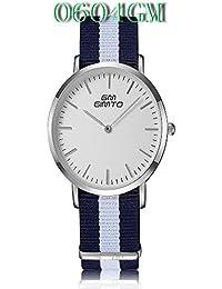 ISweven 2016 New Canvas Belt Fashion Simple Quartz Watches Analogue Multi-Colour Unisex Wrist Watch W1055b