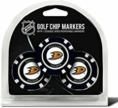 Set of 3 Anaheim Ducks Chips with removable Golf Ball Markers