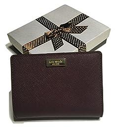 Kate Spade Newbury Lane Cara Clutch Wallet WLRU1931 with Gift Box (Mulled Wine)