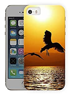 "Humor Gang Eagle Bird Flying High Printed Designer Mobile Back Cover For ""Apple Iphone 5-5S"" (3D, Matte, Premium Quality Snap On Case)"