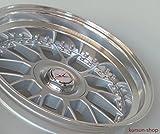DZ Exklusiv DZ1 8,5x17 ET15 LK 4 x 100 4 x 108 Doppellochkreis Silber Poliert mit Klarlack 17 Zoll Stufentiefbett