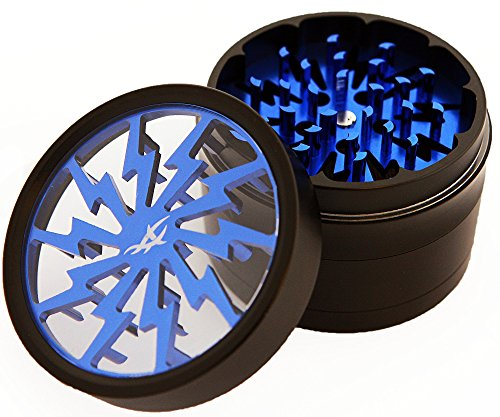 Cheapest Price! Chromium Crusher 2.5 Inch 4 Piece Tobacco Spice Herb Grinder -Blue