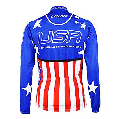 Ceiling Light's American National Team Cycling Long Sleeve Fleece Jersey santic men cycling jersey anti sweat road bike mtb cycling shirt pro downhill long sleeve cycling clothing bicycle sportwear