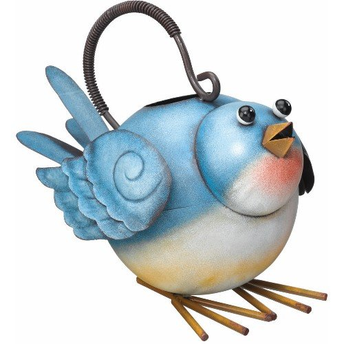 Blue Bird Bluebird Watering Can Decorative Yard Art