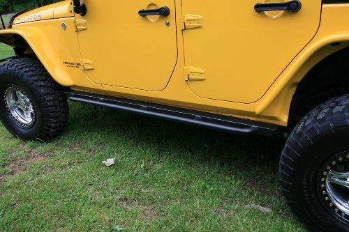 Body Armor 4x4 JK-4121 Black - Steel RockCrawler Side Bars for 2007-2013 Jeep JK Unlimited (Pair)