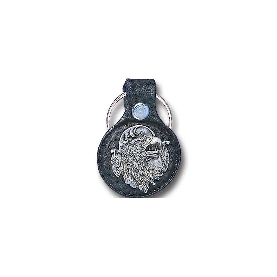 Round Leather Key Ring   Eagle Head