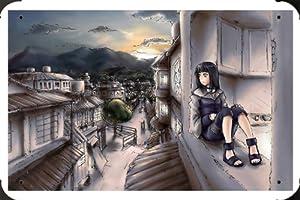 "Naruto Hyuuga Hinata Metal Poster Tin Plate Sign 8""x12"""