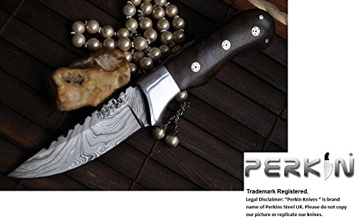 Sale- Handmade Damascus Hunting Knife - Beautiful Camping Knife - Full Tang