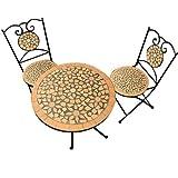 3tlg. Mosaikgarnitur Garnitur Sitzgruppe Sitzgranitur Mosaik