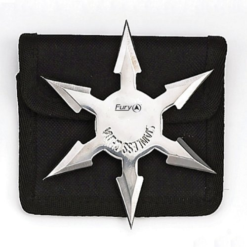 Fury Martial Arts Hex Point Shuriken Solid Throwing Star (4.25-Inch-Diameter