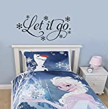 Let It Go Frozen Inspired Wall Decal Sticker