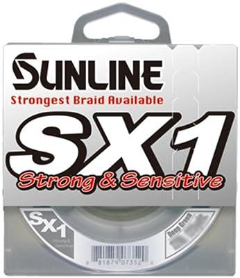 Sunline Sx1 Braided Fishing Line Dark Green 10-pound Test125-yard by Sunline