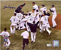Matt Garza Autographed / Signed ALCS Celebration 8x10 Photo MLB Authenticated
