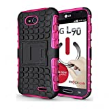 CaseMachinee Flip Kick Stand Hard Dual Armor Hybrid Bumper Back Case Cover For LG L90 D410 Dual Sim - Pink