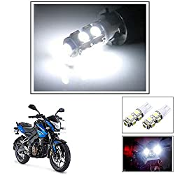 Vheelocityin 9 SMD LED Parking Bulbs for all Bikes/ Motorcycle/ ScooterFor Bajaj Pulsar 200 Ns