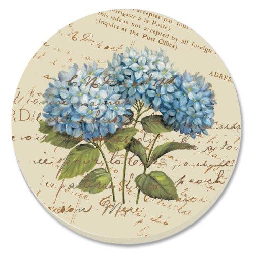 CounterArt Blue Hydrangeas Absorbent Coasters, Set of 4
