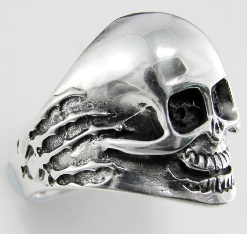 A Impressive Sterling Silver Skull Ring...Made in America