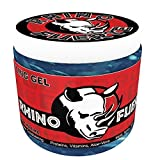 Rhino Fuerte Superior Styling Hair Gel for Men, with Extra Strong Hold to Mold, Spike and Style Your Hair the Way You Want It. Long Lasting 16 Ounce Jar