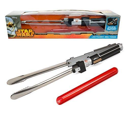 Star Wars Darth Vader Imperator Lichtschwert Grillzange mit Sound das Männer Geschenk 57cm lang