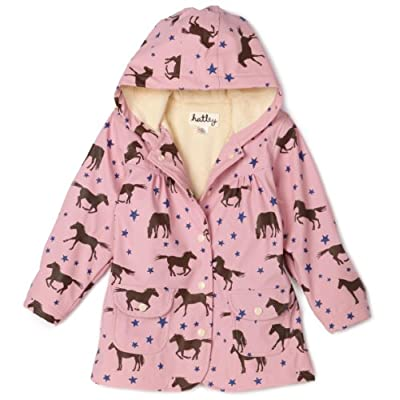 Hatley Starry Night Horses Cotton-Lined Raincoat