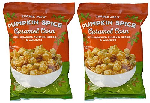 Trader Joe's Pumpkin Spice Caramel Corn with Pumpkin Seeds & Walnuts, 7 oz Bags Gluten Free (Pack of 2) (Popcorn Snack Caramel compare prices)