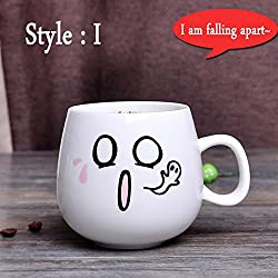 New 320ml Creative Cute Expression Ceramic Mugs Water Container Cups And Mugs Porcelain Tea Cup Coffee Mug Wholesale Style I