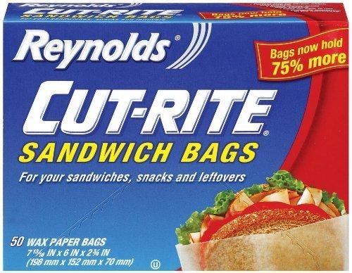 Reynolds Cut-Rite Wax Paper Sandwich Bags, 50 Count - 1