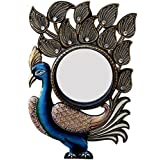 Ghanshyam Art Wood Peacock Wall Mirror (30.48 Cm X 4 Cm X 45.72 Cm, GAC086)