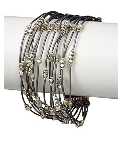 Nakamol Metal & Leather Bracelet