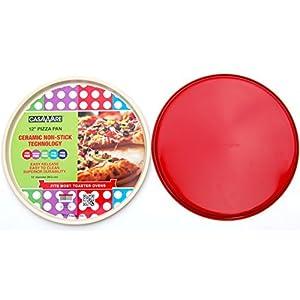 casaWare Ceramic Coated Non-Stick 12-Inch Pizza Pan