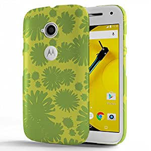 Koveru Designer Printed Protective Snap-On Durable Plastic Back Shell Case Cover for Motorola Moto E2 - Teal Pattern