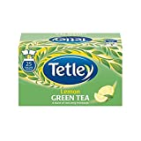 Brand New. Tetley Tea Bags Green Tea with Lemon Individually Wrapped Ref A06680 [Pack 25]