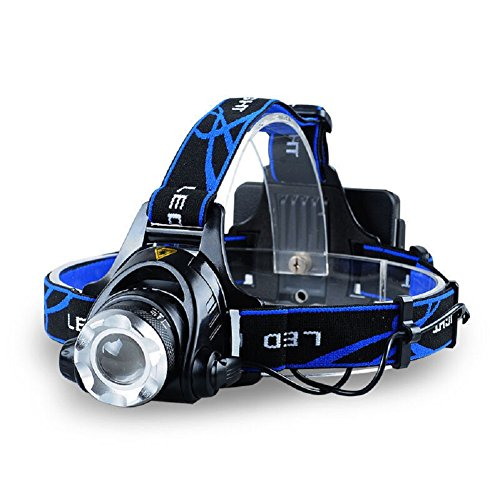 Rechargeable LED Headlamp,Super Bright Headlight Head Light Flashlight with Adjustable Headband Zoom Waterproof Torches Lamp for Dog Walking Running Camping Riding Fishing Working (Single lamp) (Light To Wear On Your Head compare prices)