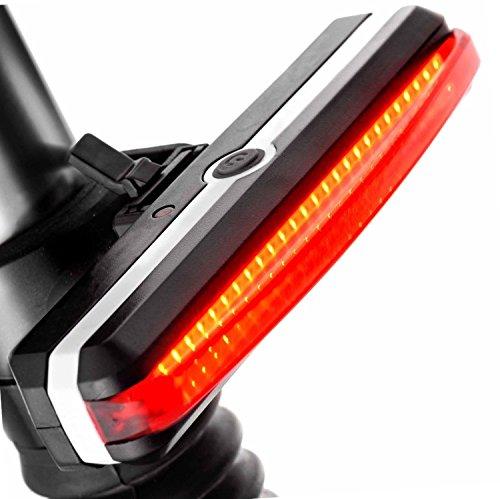 Awnic Luz Trasera Bicicleta Micro USB Recargable 26 Chips LED Rojo 6 Modos Impermeable Adecuado Para Casco y Bici, etc