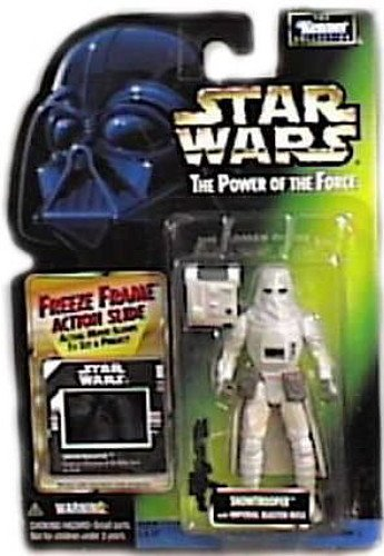 "Star Wars ""The Power of the Force"" SNOWTROOPER With Imperial Blaster Rifle, Freeze Fram Action Slide"