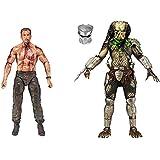 "Official Licensed Predators 7"" Action Figure Predator Vs Dutch 2 Pack"