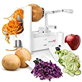 Simple Chef Vegetable Spiralizer  Best Vegetable Spiral Slicer - Make Vegetable Noodles, Pasta, and Spaghetti At Home For Paleo, Low Carb, Atkins, Gluten-Free Recipes
