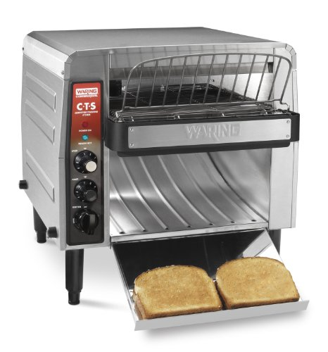 Waring Commercial Cts1000B Heavy-Duty Stainless Steel Conveyor Toaster, 208-Volt