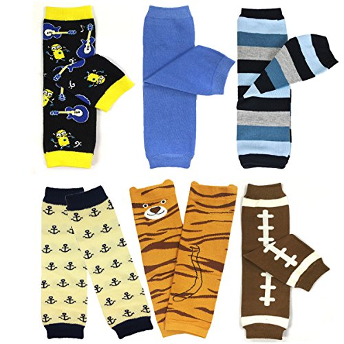 Bowbear Baby & Toddler Boys Set of 6 Assorted Leg Warmers, BS01