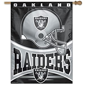 "Oakland Raiders Banner vertical flag 27"" x 37"""