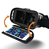 CUDEVS-3D-VR-Glasses-VR-Goggle-Headset-Virtual-Reality-Box-with-Adjustable-Lens-for-iPhone-6-6s-plus-Samsung-S5-S6-Edge-Note-4-5-6-and-35-60-inch-Smartphone-for-3D-Movies-and-Games-Single-VR