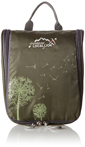 Local Lion borsa beauty case unisex outdoor campeggio da viaggio (verde scuro)