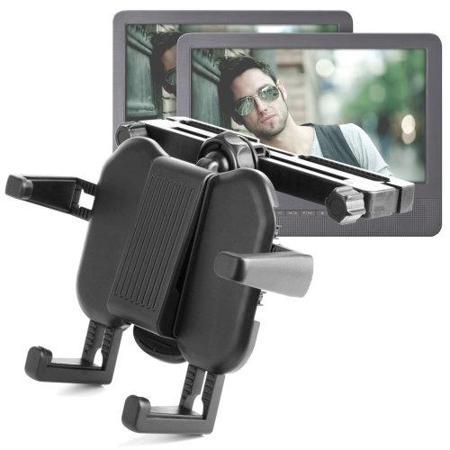 Duragadget Sturdy Adjustable Holder For Portable Dvd Players 'Up To 10 Inches' Accessible W/ Odys Seal, Thomson Dp500, Twin700, Odys Furo & Sylvania 7-Inch Portable Dvd Player,